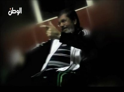 A still image taken from video released by Egypt's Al Watan newspaper shows what the newspaper says is ousted former Egyptian leader Mohamed