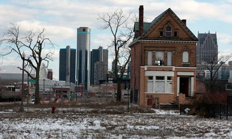 Lacking resources to live in larger urban centres, young people are investing in Detroit homes. Photograph: Rebecca Cook/Reuters