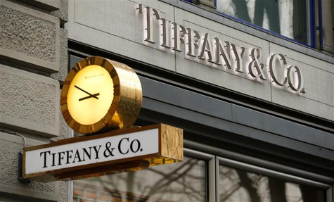 A clock is placed in front of a store of U.S. jeweller Tiffany at the Bahnhofstrasse shopping street in Zurich December 23, 2013. REUTERS/Ar
