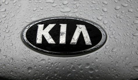 A view shows the logo of a Kia car in its factory in Zilina, 200 kilometres north of Bratislava October 3, 2012. REUTERS/Petr Josek