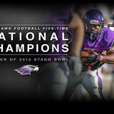 UW Whitewater football national champions 2013 of the Stagg Bowl beating Mount Union and winning it's 5th National Championship.  Photo courtesy of UWW Facebook.