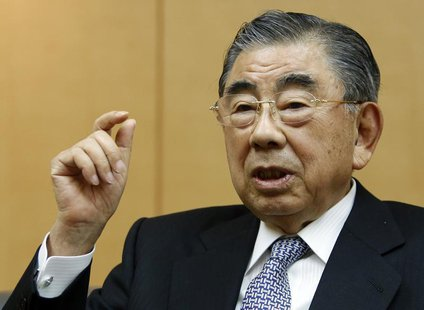 Toshifumi Suzuki, chairman and CEO of Seven And I Holdings Co Ltd speaks during an intewview with Reuters at its headquarters in Tokyo Decem
