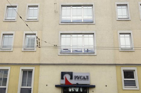 An exterior view shows an office of RUSAL company in Moscow March 19, 2012. REUTERS/Denis Sinyakov