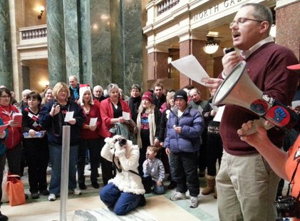Festivus at the Wisconsin state capitol (Photo: Wisconsin Radio Network)