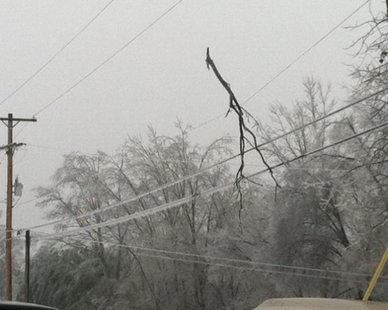 Stay away from this scene, says Consumers Energy officials (photo courtesy Consumers Energy)