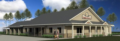 An artist's rendering of the new Lincoln County Humane Society building