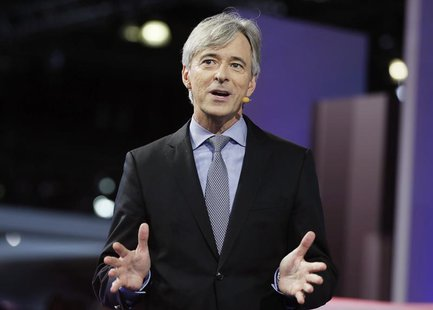 John Krafcik, president and CEO of Hyundai America introduces the company's new cars during the 2013 Los Angeles Auto Show in Los Angeles No