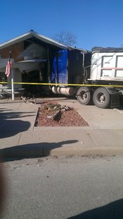 semi hits Dugger cafe