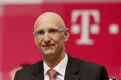 Then Deutsche Telekom AG member of the board of management Timotheus Hoettges attends the company's general shareholders meeting in Cologne