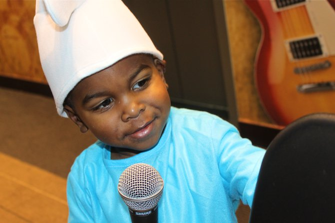Little James at the mic
