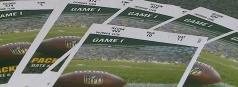 Postseason Packers tickets (Photo from: YouTube).