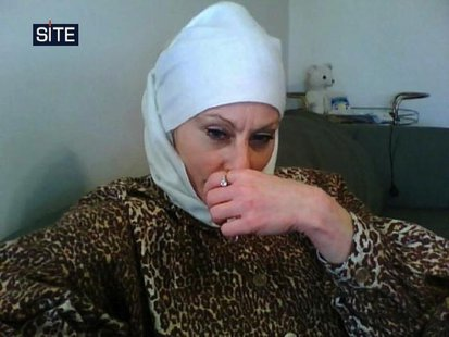 "Colleen LaRose, known by the self-created pseudonym of ""Jihad Jane"", is pictured in this photo released by Site Intelligence Group on March"