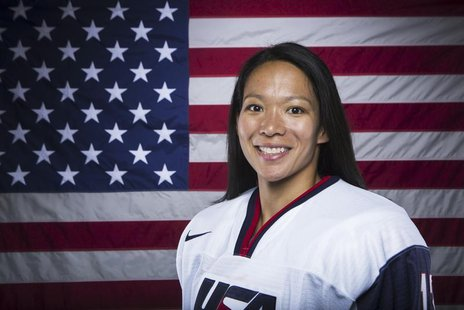 Olympic hockey player Julie Chu poses for a portrait during the 2013 U.S. Olympic Team Media Summit in Park City, Utah October 2, 2013. REUT