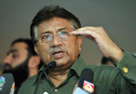 Pakistan's former President Pervez Musharraf speaks during a news conference in Dubai March 23, 2013. REUTERS/Mohammad Abu Omar