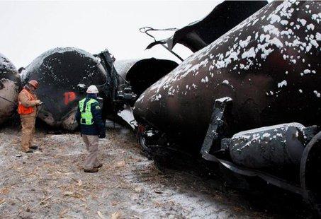 Casselton derailment site (NTSB)