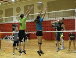 Register for the coed six-on-six volleyball tournament. (Siouxfalls.org)