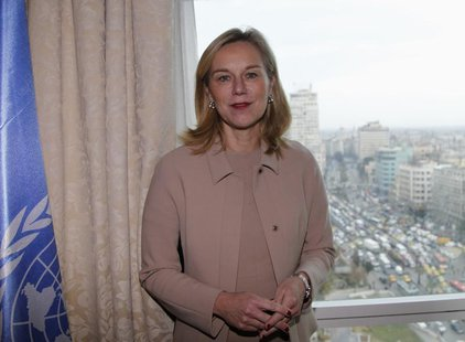 Sigrid Kaag, Special Coordinator of the Organisation for the Prohibition of Chemical Weapons-United Nations (OPCW-UN) joint mission on elimi