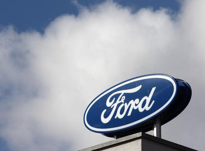 The Ford logo is pictured on the rooftop of Austria's Ford head branch in Vienna March 19, 2013. REUTERS/Heinz-Peter Bader