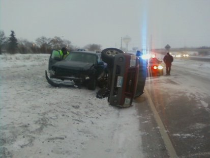 Crash on I-94 in Moorhead