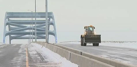 Leo Frigo Memorial Bridge to reopen to traffic early, beginning Jan. 5, 2014, at 9:30 a.m. (Photo from YouTube)