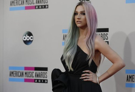 Musician Ke$ha arrives at the 41st American Music Awards in Los Angeles, California November 24, 2013. REUTERS/Mario Anzuoni