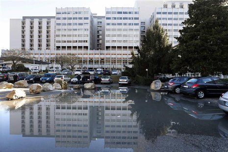 General view of the CHU hospital emergency unit in Grenoble, French Alps, where seven-time former Formula One world champion Michael Schumac