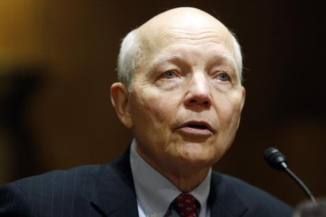John Koskinen testifies before a Senate Finance Committee confirmation hearing on his nomination to be commissioner of the Internal Revenue