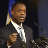Detroit Emergency Manager Kevyn Orr addresses the media following a ruling by U.S. District Judge Steven Rhodes that Detroit is eligible for the biggest municipal bankruptcy in U.S. history in Detroit, Michigan December 3, 2013. CREDIT: REUTERS/REBECCA COOK
