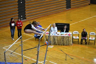 Coldwater gymnastics at Rockford Invitational, January 4, 2014