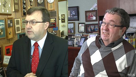 State Rep. Dean Kaufert (R-Neenah), left, and Neenah Mayor George Scherck. (Photo from: FOX 11).
