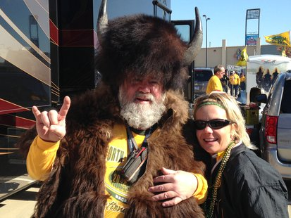 Bison fans overtook Frisco, Texas.