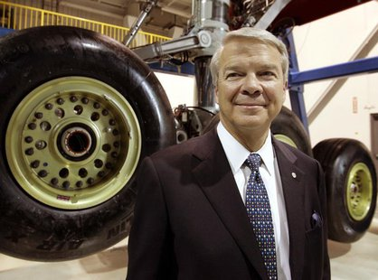 Airbus North America Holdings, Inc. Chairman Allan McArtor attends the world's largest aircraft body landing gear testing facility at the Go
