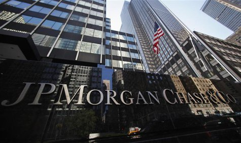 A sign outside the headquarters of JP Morgan Chase & Co in New York, in this September 19, 2013, file photo. REUTERS/Mike Segar