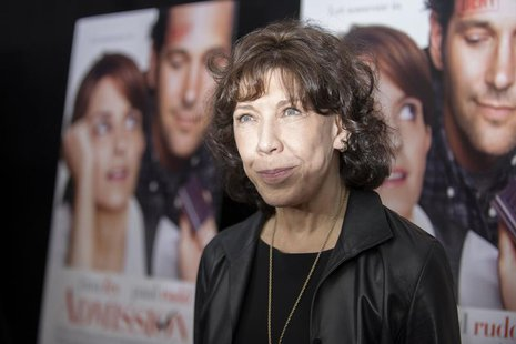 "Cast member Lily Tomlin poses at the premiere of ""Admission"" in New York, March 5, 2013. REUTERS/Keith Bedford"