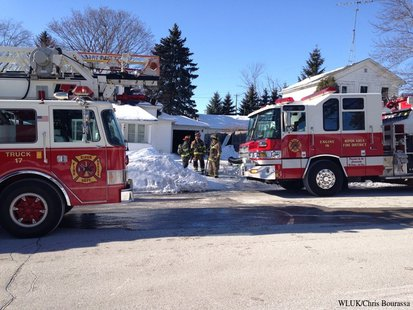 Firefighters were called to a chimney fire in Ripon on Tuesday, Jan. 7, 2014. (Photo from: FOX 11).