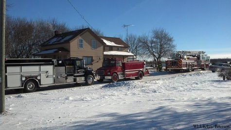Firefighters responded to a chimney fire in the Town of Oconto Falls on Tuesday, Jan. 7, 2014. (Photo from FOX 11).