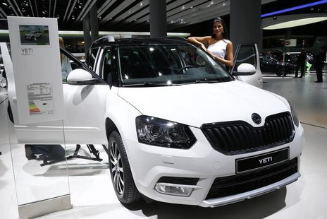 A Skoda Yeti SUV is pictured during a media preview day at the Frankfurt Motor Show (IAA) September 11, 2013. REUTERS/Ralph Orowski