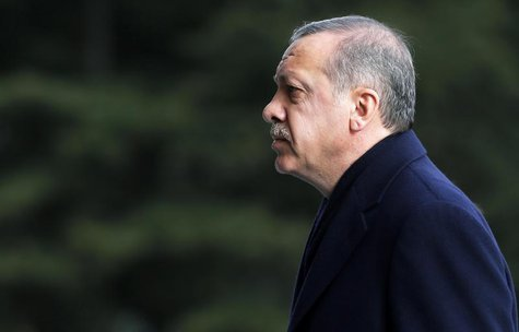 Turkey's Prime Minister Tayyip Erdogan arrives at the cabinet meeting in Ankara December 30, 2013. REUTERS/Umit Bektas