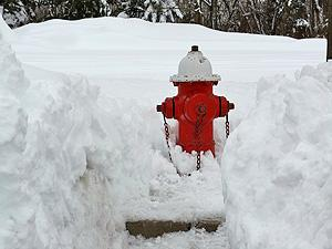 snow fire hydrant
