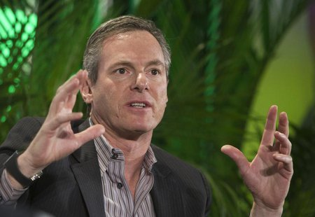 Paul Jacobs, chairman and CEO of Qualcomm, speaks during a panel discussion at the 2014 International Consumer Electronics Show (CES) in Las