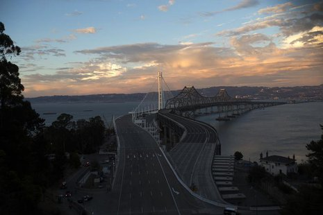 A general view of the eastern span of the San Francisco-Oakland Bay bridge in San Francisco, California September 2, 2013. REUTERS/Stephen L