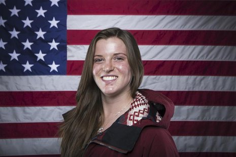 Olympic snowboarder Arielle Gold poses for a portrait during the 2013 U.S. Olympic Team Media Summit in Park City, Utah October 2, 2013. REU
