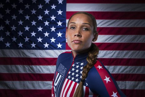 Bobsledder Lolo Jones poses for a portrait during the 2013 U.S. Olympic Team Media Summit in Park City, Utah September 30, 2013. REUTERS/Luc