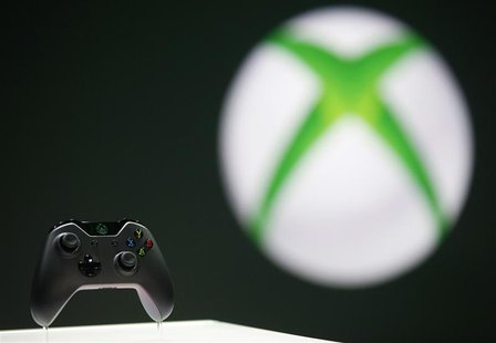 The Xbox One controller is pictured during a press event unveiling Microsoft's new Xbox in Redmond, Washington in this May 21, 2013 file pho