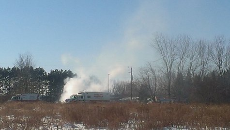 The scene of a house explosion at Pioneer Lane in Wausau on Jan 9, 2014