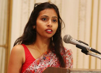 India's Deputy Consul General in New York, Devyani Khobragade, attends a Rutgers University event at India's Consulate General in New York,