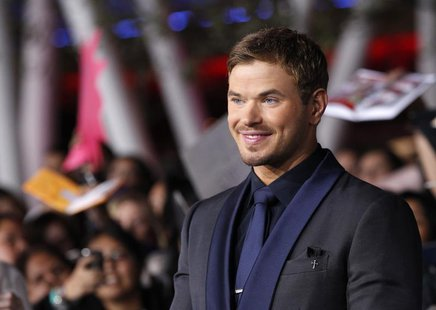 "Cast member Kellan Lutz poses at the premiere of ""The Twilight Saga: Breaking Dawn - Part 2"" in Los Angeles, California, November 12, 2012."