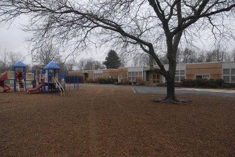 Sandy Hook Elementary School in Newtown, Connecticut, is pictured in this evidence photo released by the Connecticut State Police, December