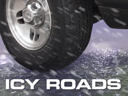 Slippery roads cause rollover