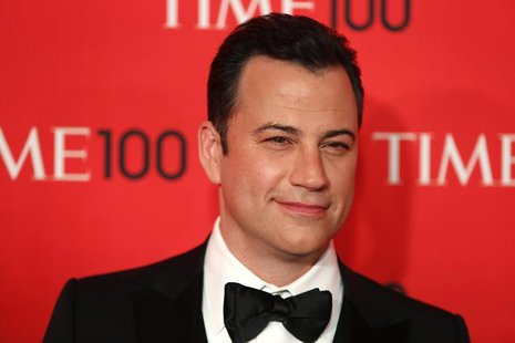 Television host Jimmy Kimmel arrives for the Time 100 gala celebrating the magazine's naming of the 100 most influential people in the world